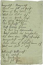Günderrode, Karoline von: Gedichtmanuskript