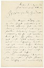 Fontane, Theodor: Brief 1873 an Hermann Kletke