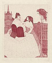 Beardsley, Aubrey: Mademoiselle de Maupin. Sechs Kupferstiche. Privatdruck um 1920