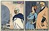Algerische Bildergeschichten: 10 Tafeln in Pochoir-Kolorit