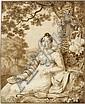 Strudwick, John Melhuish: Stehende Frau im fließenden Gewand
