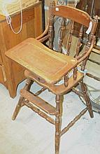 Vintage High Chair A nice piece circa 1930's-1940's.