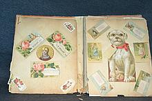 Vintage and Antique Postcards in a Scrapbook A great lot of Americana with some Victorian era postcards as well as turn of the century ones.