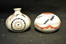 Pair of Signed Navajo Seed Pots