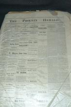 Antique Phoenix Herald Newspapers