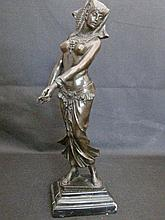 Bronze carved Cleopatra 埃�艳�