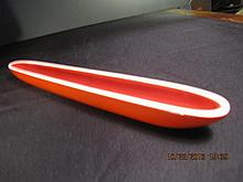 Chinese Red Glaze Boat