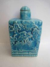 Chinese Green Glaze Snuff Bottle of Yongzhen