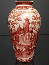 Chines Export Porcelain of Red Under Glaze Vase