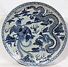 CHINESE BLUE & WHITE PORCELAIN CHARGER,