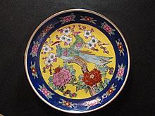 Chinese 2 birds Plate of Famille Rose Porcelain