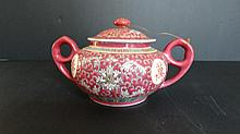 Chinese Famille Rose Tea Caddy