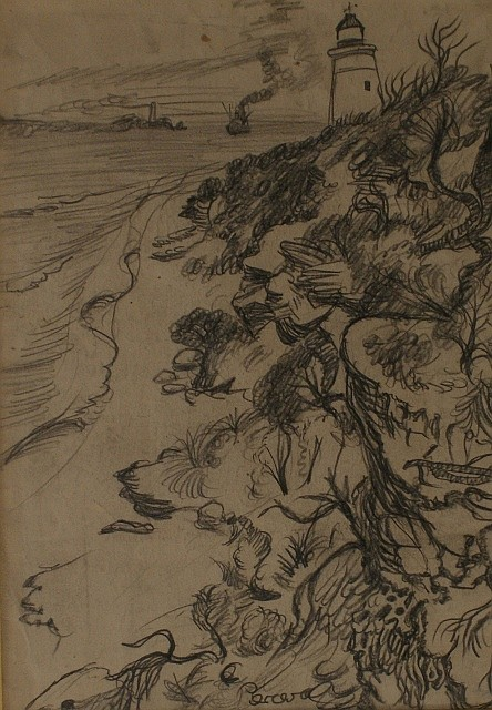John Perceval (1923-2000) Point Lonsdale I pencil