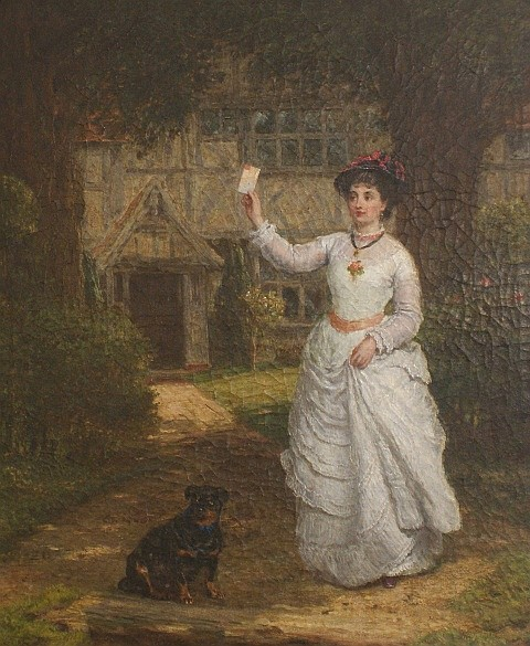 James Clark Waite (1832-1920) The Letter oil on canvas