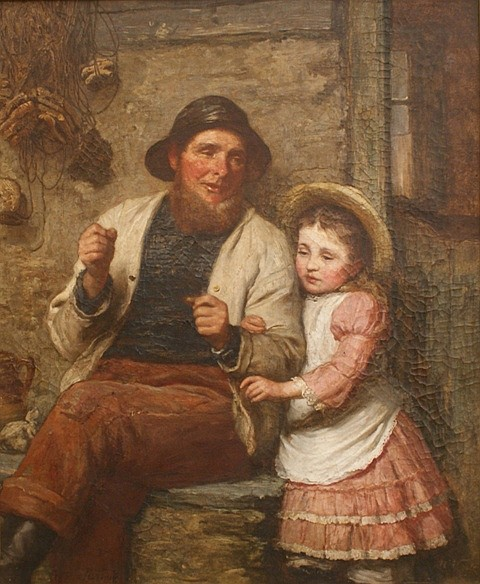 James Clark Waite (1832-1920) Handy Pandy oil on canvas