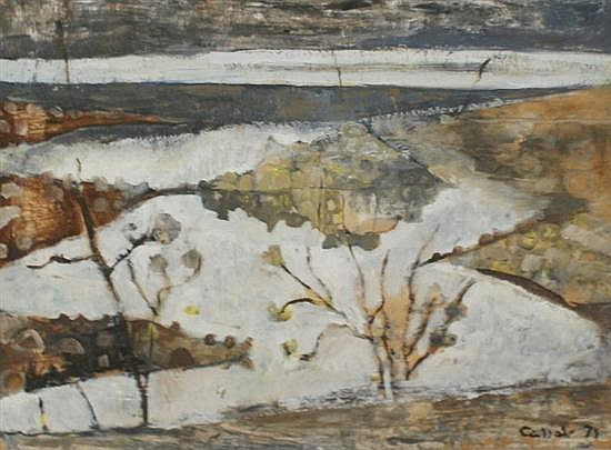 Judy Cassab (born 1920) Island 1971 oil on board