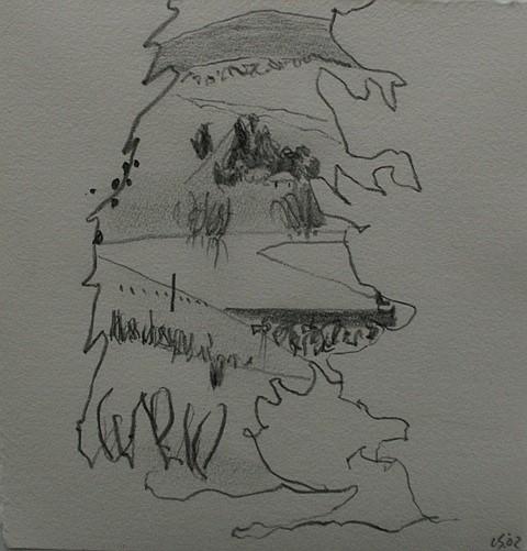 Luke Sciberras (born 1975) Marjorie's View, Bishopthorpe, Goulburn 2002 pencil