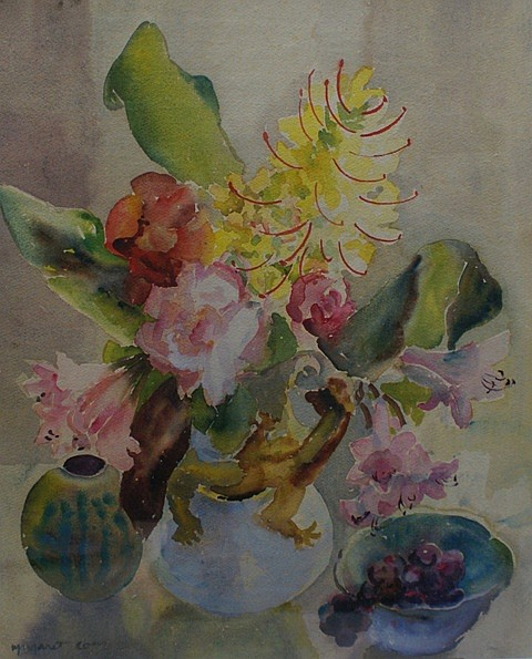 Margaret Coen (1913-1993) Still Life watercolour