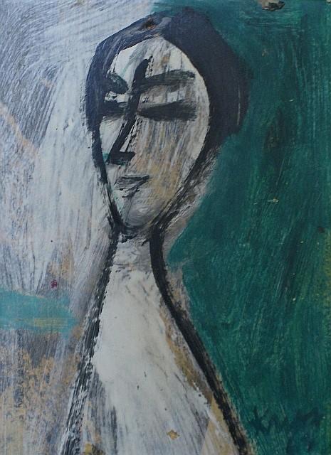 Michael Kmit (1910-1981) (Untitled) 1963 oil on card