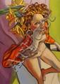 Stewart MacFarlane (born 1953) Ella with Flowers 2003 oil on board