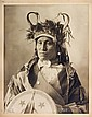 WETS IT, Assiniboin, 1898. Unmounted 9 ¼ x 7 3/8 platinotype.