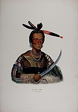TO-KA-CON Sioux Indian Chief. McKenney & Hall color litho