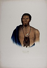 TISH-CO-HAN Delaware Indian Chief. McKenney & Hall litho