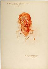 HAS-TEEN-GAH-HY, Navajo, 1910 by E. A. Burbank.
