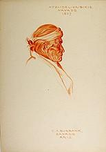 ATZI-DEL-CA-BIKIS, Navajo Indian, 1907. by E. A. Burbank
