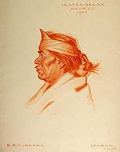 YA-OTZA-BEGAY, Navajo Indian, 1907. by E. A. Burbank