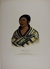 STUM_MA_NU, Flat Head Indian Boy. McKenney and Hall