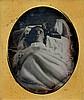 POST-MORTEM, 1/6 plate daguerreotype.