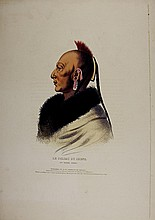 LE SOLDAT DU CHENE Osage Indian Chief. McKenney & Hall