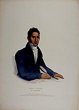 JOHN RIDGE Cherokee Indian. McKenney & Hall color litho