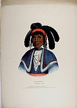 MICANOPY Seminole Indian Chief. McKenney & Hall color litho