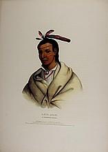 A_MIS_QUAM, Winnebago Indian. McKenney & Hall color litho