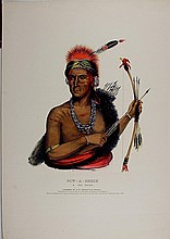 POW-A-SHEEK Fox Indian Chief. McKenney & Hall color litho