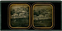VIEW OF TOULOUSE. Stereo Daguerreotype