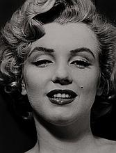 MARILYN'S FACE, BY PHILIPPE HALSMAN.