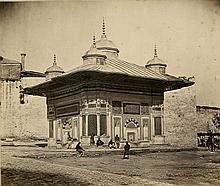 FOUNTAIN OF SULTAN AHMET III, ISTANBUL by Robertson and Beato, 1853.