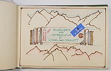 An album containing souvenirs of a family Alpine h