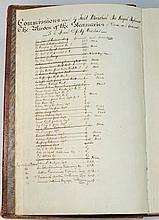 STANNARY MILITIA : manuscript folio ledger recordi