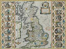 SPEED, John : Saxon Britain - hand coloured map, 5