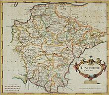 MORDEN, Robert : Devonshire, hand coloured map, 41