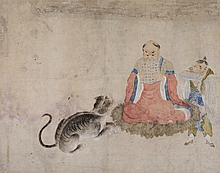 CHINESE WATERCOLOURS : A pair of early 19th
