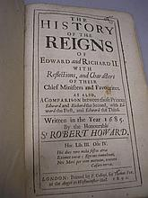 HOWARD, Sir Robert - The History of the Reigns of