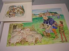 AITCHISON, Martin : (born 1919) ORIGINAL ARTWORK -