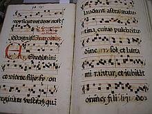 CHOIRBOOK/ANTIPHONE : Manuscript choirbook,