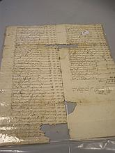 LONG MELFORD : Manuscript list of subscribers to