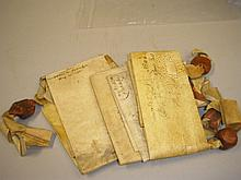 ESSEX INDENTURES : five manuscript indentures on